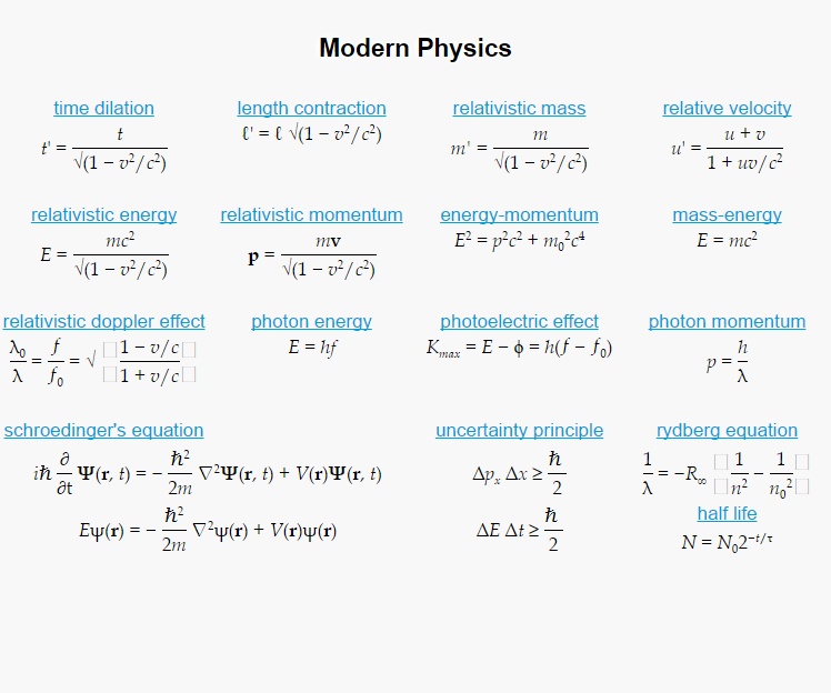 physics equations Formulas : physics formulas and math formulas home formulas formulas: physics formulas and math formulas.