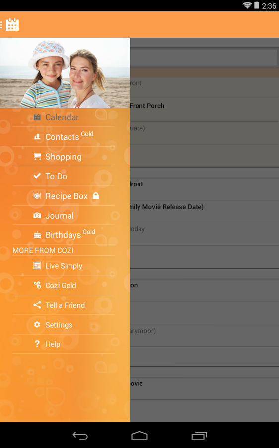 Cozi Family Organizer - screenshot