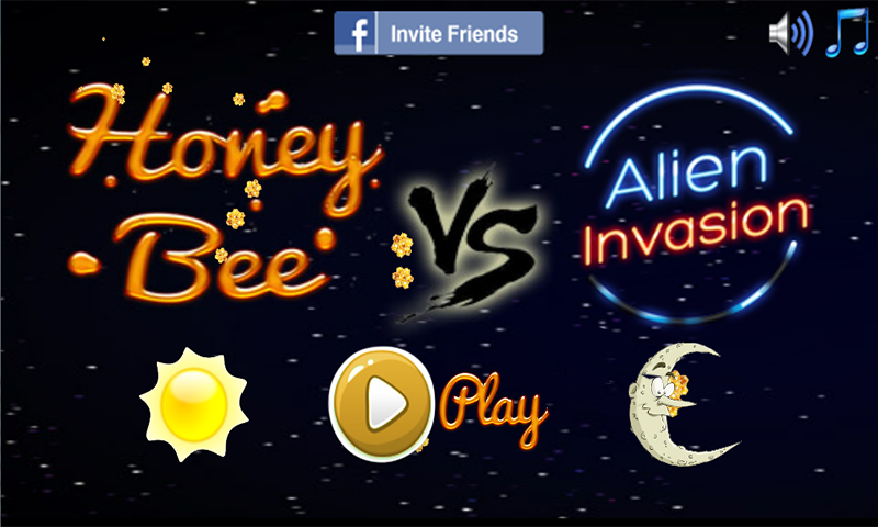 Honey Bee vs Alien Invasion- screenshot