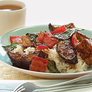 Stir-fried Eggplant and Tofu.
