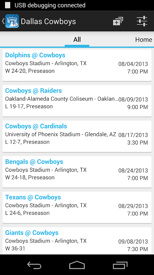 Sports Calendar - screenshot