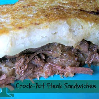 Crock-Pot Steak Sandwiches.