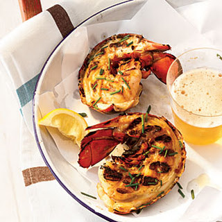 Grilled Maine Lobster Tails with Miso Butter.