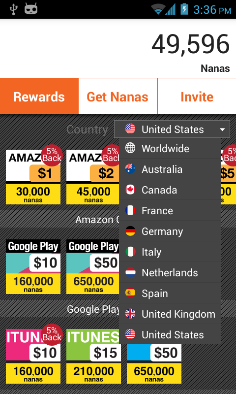 AppNana - Free Gift Cards - screenshot