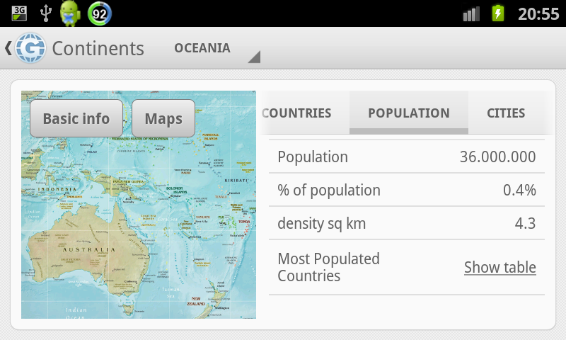 Geo Stats- screenshot