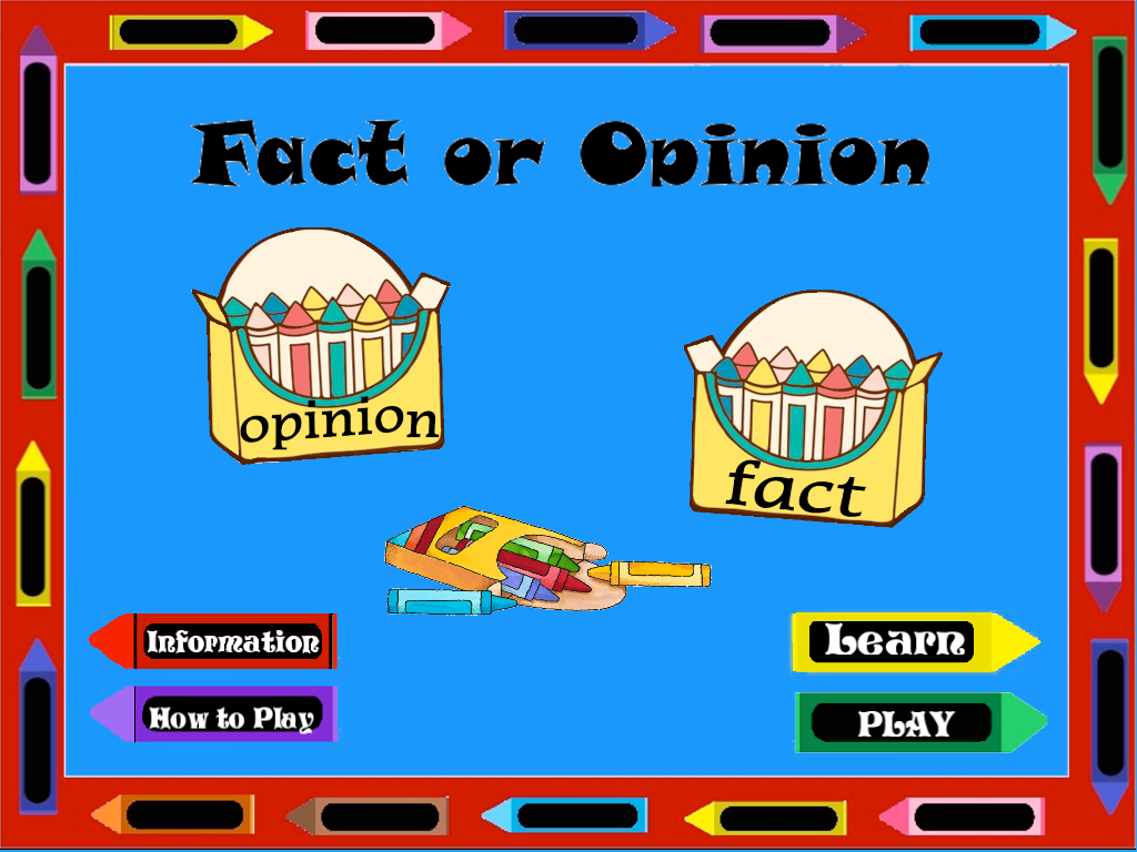 fact or opinion review
