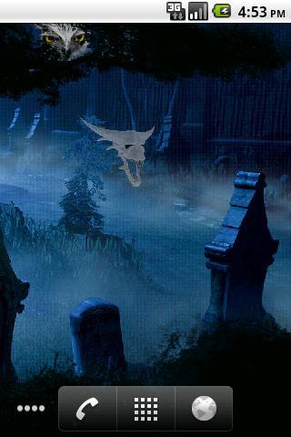 Ghost Halloween Cemetery Live Wallpaper- screenshot