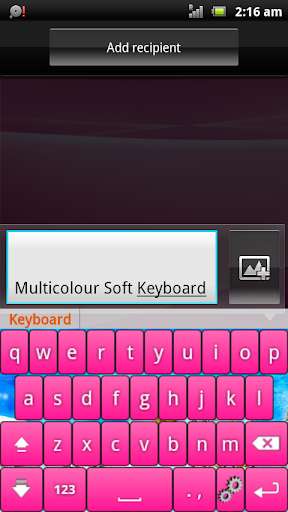 Multicolor Soft Keyboard Paid