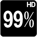 BN Pro Percent White HD Text icon