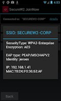 Screenshot of SecureW2 JoinNow