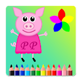 Peppa Pink Paint Book