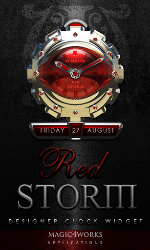 Red Storm Clock Widget