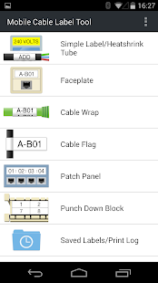 Mobile Cable Label Tool- screenshot thumbnail