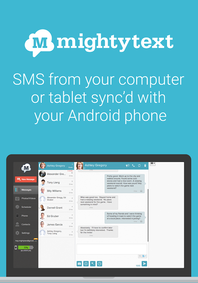 MightyText SMS Text Messages - screenshot