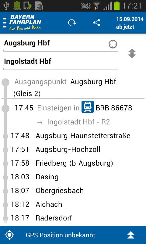 Bayern-Fahrplan - screenshot
