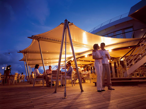 Europa-2-Lido-deck - Have some drinks with your partner, or chat with some friends, under the moonlight on the Lido Deck of Europa 2.