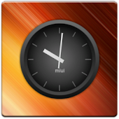 MIUI Dark Analog Clock Widget