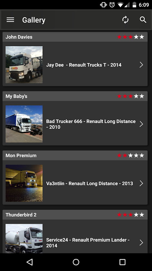 Truckers Gallery- screenshot