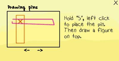 [小遊戲]魔法筆(MagicPen)要固定住物件按住S