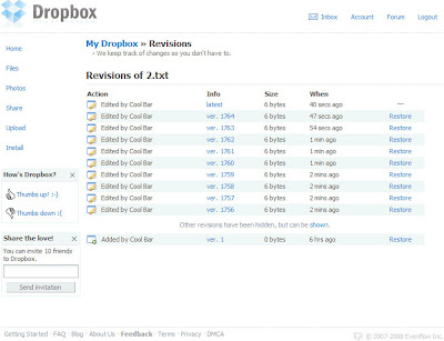 Dropbox版本控制篇-02.Web端的介面