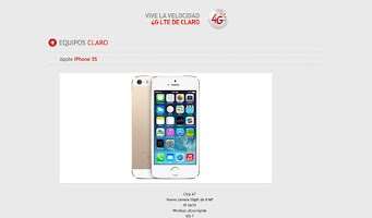 Screenshot of Catálogo Digital Claro