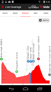 2016 Tour of Utah Tour Tracker- screenshot thumbnail