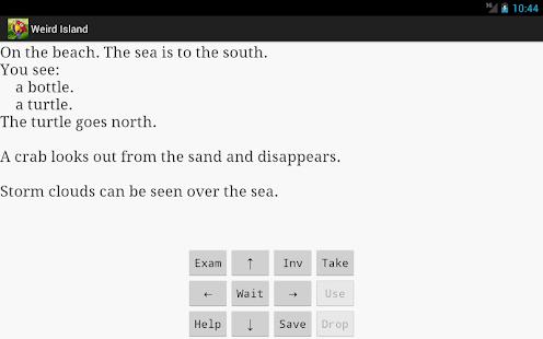 Weird Island text adventure