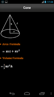 Area & Volume Formulas- screenshot thumbnail
