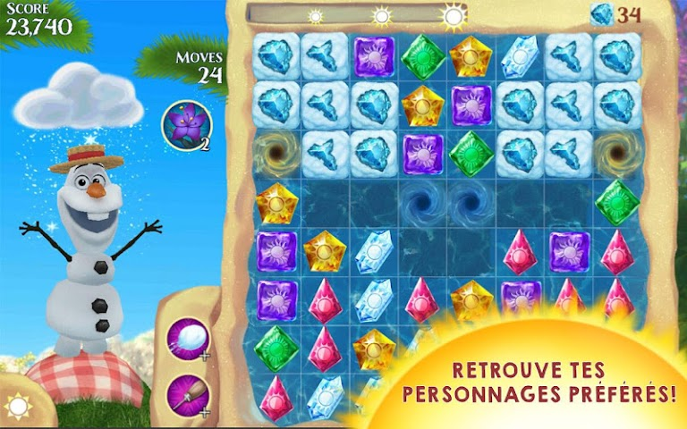 android La Reine des Neiges Free Fall Screenshot 17