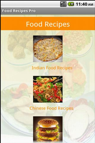 Food Recipes Pro - screenshot