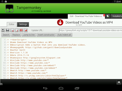 tampermonkey how to run a script