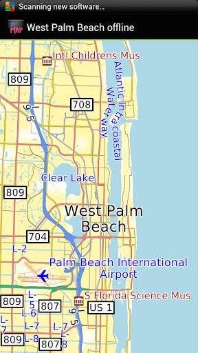 West Palm Beach offline map