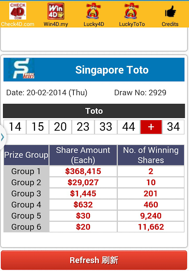 4d toto singapore malaysia android apps on google play