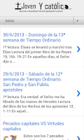 Screenshot of Lecturas y Evangelio