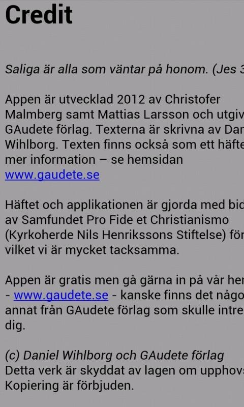 Adventskalendern GAudete - screenshot