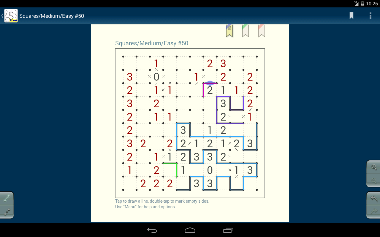 Slitherlink (free) - screenshot