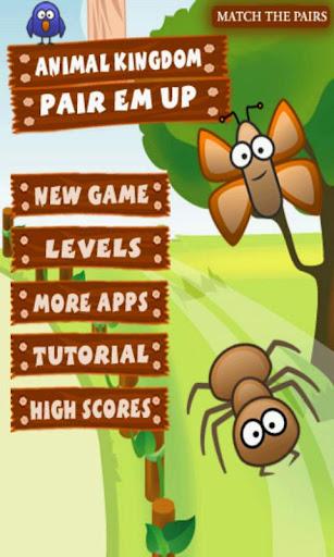 Animal Kingdom Memory Game