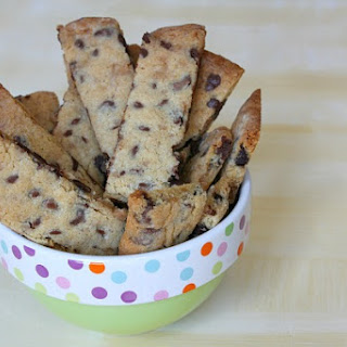 Chocolate Chip- Toffee Strip Cookies