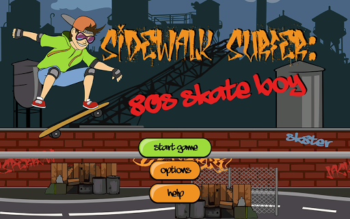 Sidewalk Surfer: 80s Skate boy