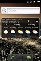 Screenshot of Trentino Meteo Widget