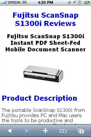 ScanSnap S1300i Scanner Review