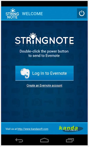Stringnote MyIdeas in Evernote