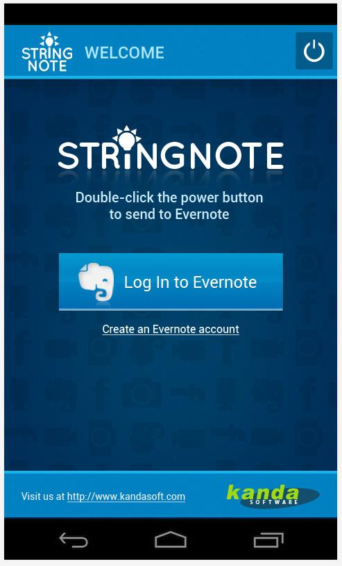 Stringnote MyIdeas in Evernote - screenshot