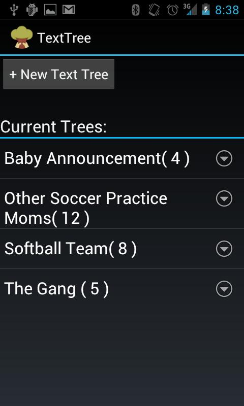 Text Tree- screenshot