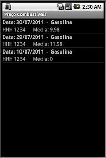 Preço dos Combustíveis - screenshot thumbnail
