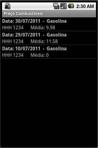 Preço dos Combustíveis - screenshot