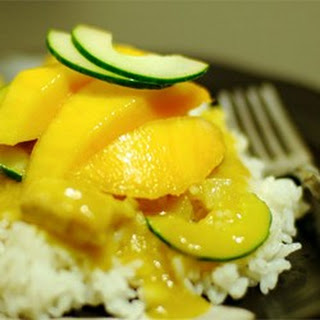 Spicy Indian Chicken and Mango Curry.