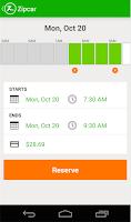 Screenshot of Zipcar