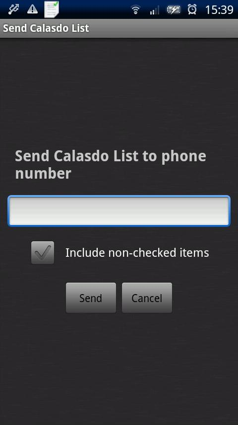 The Calasdo List - screenshot