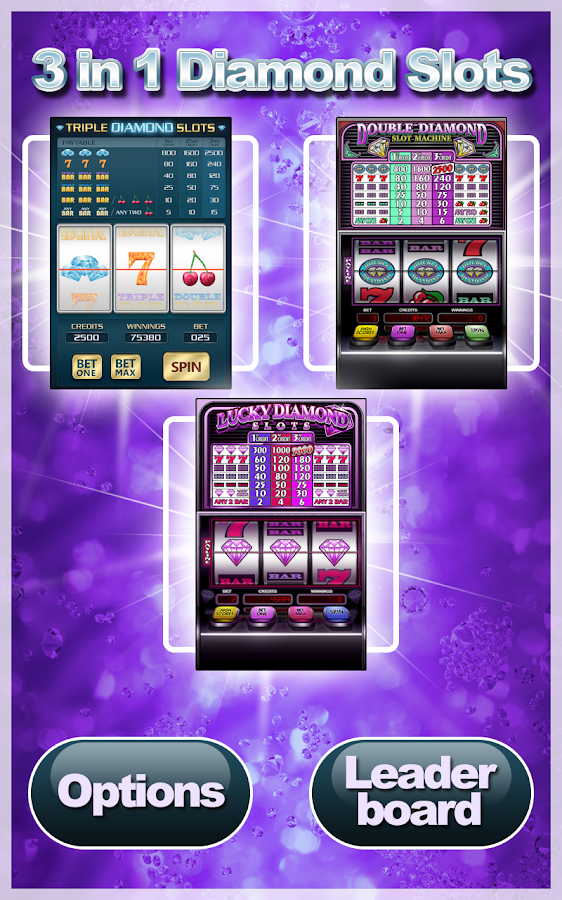 3 in 1 Diamond Slots- screenshot